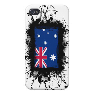 Bandera de Australia iPhone 4 Carcasas