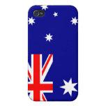 Bandera de Australia iPhone 4 Fundas