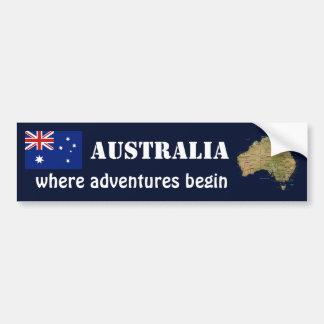 Bandera de Australia + Pegatina para el parachoque Pegatina De Parachoque