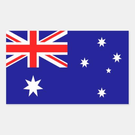 Bandera de Australia Pegatina Rectangular