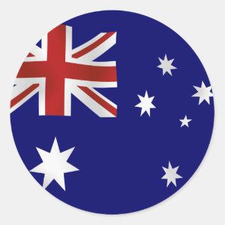 Bandera de Australia Pegatinas Redondas