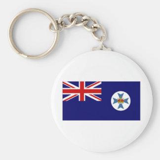 Bandera de Australia Queensland Llavero Redondo Tipo Pin