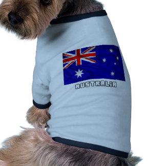 Bandera de Australia Camisetas Mascota
