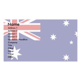 Bandera de Australia Tarjetas De Visita