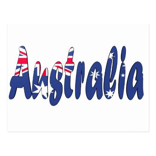 Bandera de Australia Tarjetas Postales
