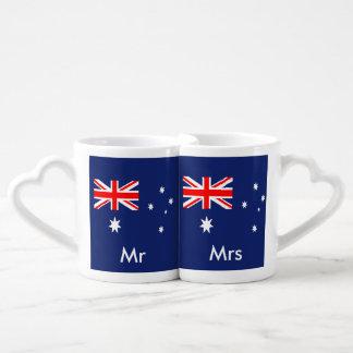 Bandera de Australia Tazas Amorosas