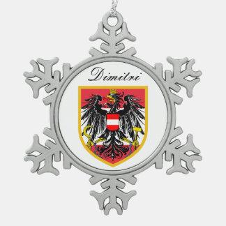 Bandera de Austria Adorno De Peltre En Forma De Copo De Nieve