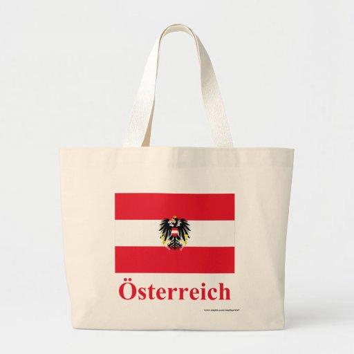 Bandera de Austria con nombre en alemán Bolsas De Mano