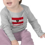 Bandera de Austria con nombre en alemán Camisetas