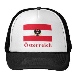 Bandera de Austria con nombre en alemán Gorra