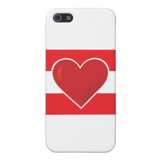 Bandera de Austria del corazón iPhone 5 Protector
