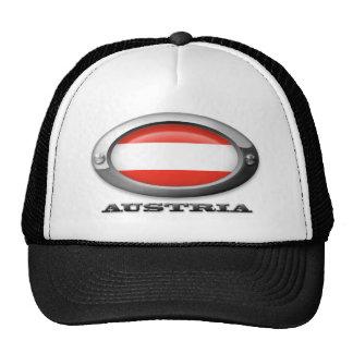 Bandera de Austria en el marco de acero Gorras De Camionero