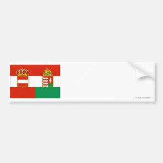 Bandera de Austria-Hungría (1869-1918) Etiqueta De Parachoque