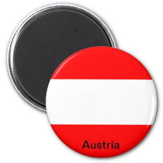 Bandera de Austria Imán Redondo 5 Cm