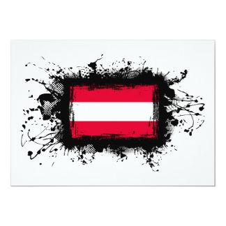 """Bandera de Austria Invitación 5"""" X 7"""""""