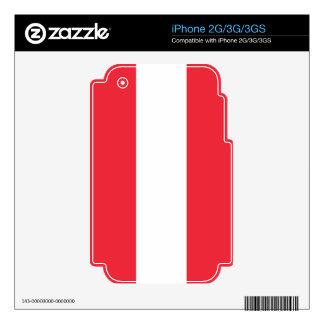 Bandera de Austria iPhone 3G Skin
