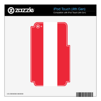 Bandera de Austria iPod Touch 4G Skin