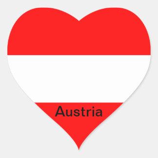 Bandera de Austria Pegatina En Forma De Corazón