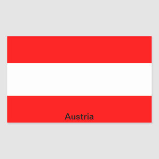 Bandera de Austria Pegatina Rectangular