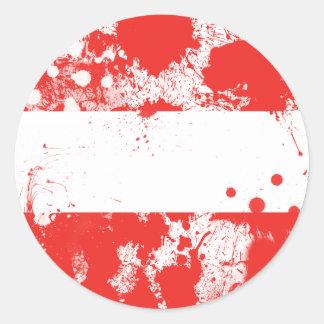 Bandera de Austria Pegatina Redonda
