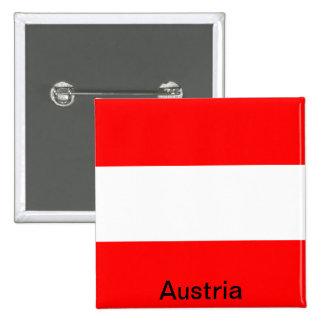 Bandera de Austria Pin Cuadrada 5 Cm