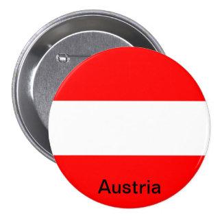 Bandera de Austria Pin Redondo 7 Cm