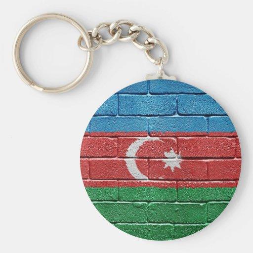 Bandera de Azerbaijan Llavero Redondo Tipo Pin