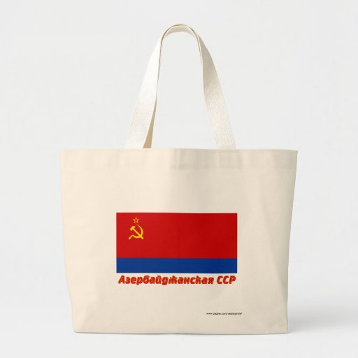 Bandera de Azerbaijan SSR con nombre Bolsa