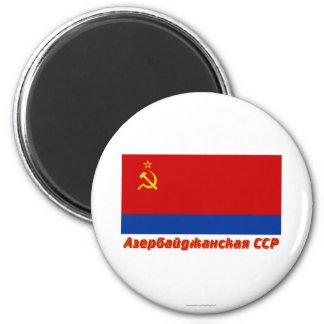 Bandera de Azerbaijan SSR con nombre Imán De Nevera