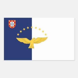 Bandera de Azores (Portugal) Pegatina Rectangular