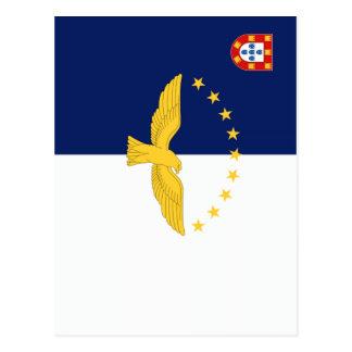 Bandera de Azores (Portugal) Tarjetas Postales