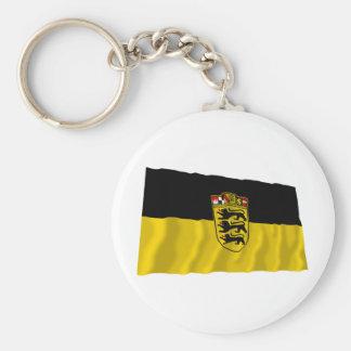 Bandera de Baden-wurttemberg Llavero Redondo Tipo Pin