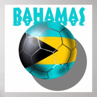 Bandera de Bahamas - bandera del Caribe bahamesa Poster