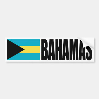Bandera de Bahamas Etiqueta De Parachoque
