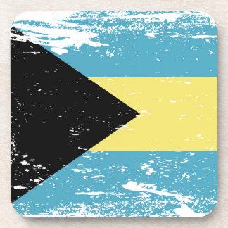 Bandera de Bahamas del Grunge Posavasos