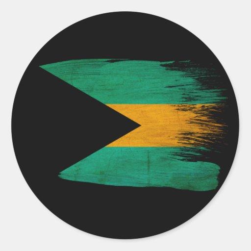 Bandera de Bahamas Etiqueta Redonda