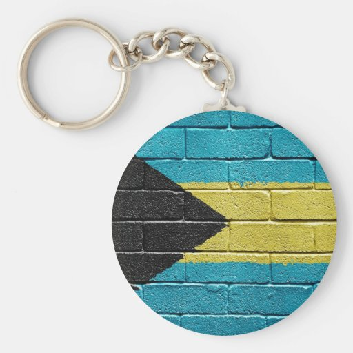 Bandera de Bahamas Llavero Redondo Tipo Pin