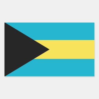 Bandera de Bahamas Pegatina Rectangular
