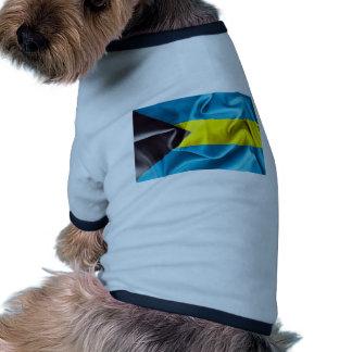 Bandera de Bahamas Camiseta Con Mangas Para Perro