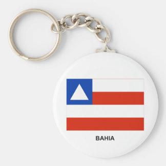 Bandera de Bahía, el Brasil Llavero Redondo Tipo Pin