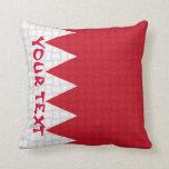 Bandera de Bahrein: AÑADA EL TEXTO Cojin
