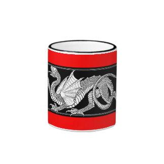 Bandera de Bahrein con la taza del dragón