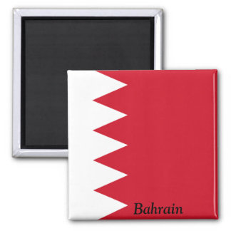 Bandera de Bahrein Imán Cuadrado