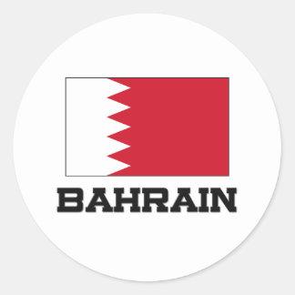 Bandera de Bahrein Etiquetas Redondas