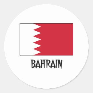 Bandera de Bahrein Etiqueta Redonda