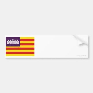 Bandera de Balearic Island Pegatina De Parachoque
