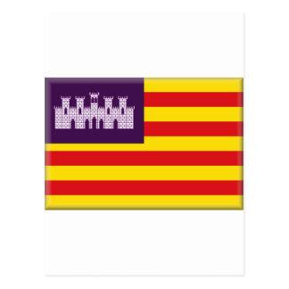 Bandera de Balearic Island (España) Postales