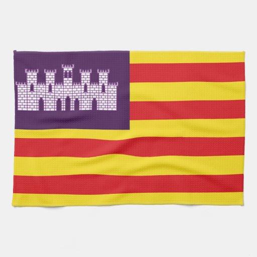 Bandera de Balearic Island (España) Toallas