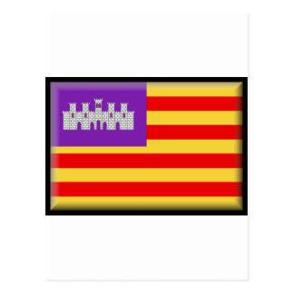 Bandera de Balearic Island Tarjeta Postal