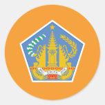 Bandera de Bali, Indonesia Etiquetas Redondas